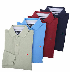 Tommy-Hilfiger-Men-039-s-Long-Sleeve-Classic-Fit-Polo-Rugby-0-Free-Ship