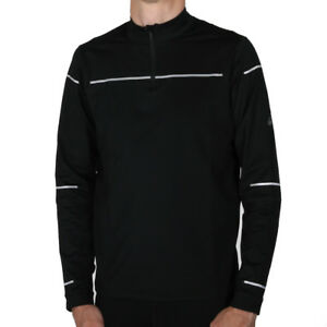Details zu Asics Lite Show Winter Longsleeve 12 Zip Top Performance Black Herren Laufshirt