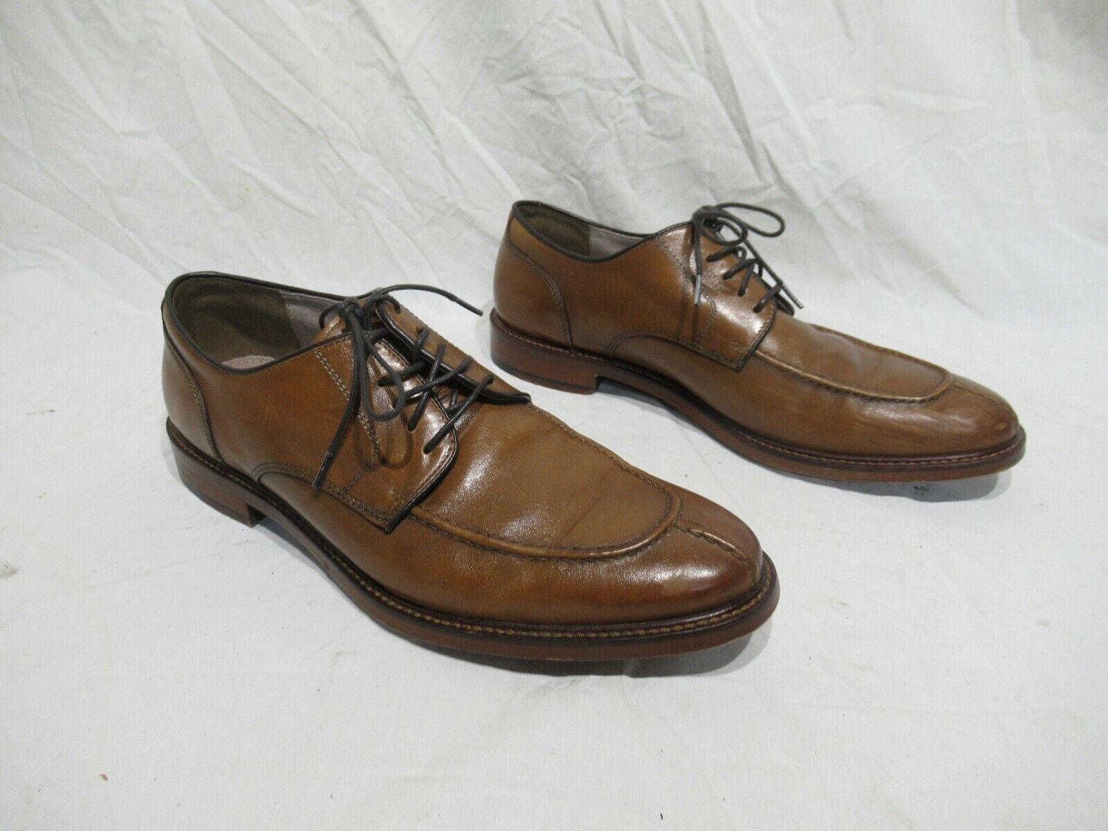 Joseph Abboud Stevenson 500372 Oxford Split Toe Brown Dress Shoes Mens Size 8.5
