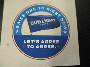 BUDWEISER Bud Light rectangle font logo STICKER decal craft beer brewing brewery