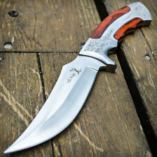 """10"""" Full Tang Wood Fixed Blade Knife Hunting Skinning Survival Army Bowie"""