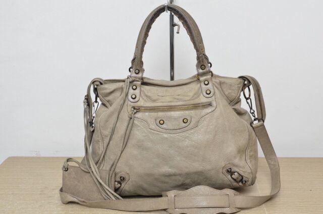 Balenciaga Classic Velo Sand Beige Used Authentic w/ Strap Mirror Used Authentic