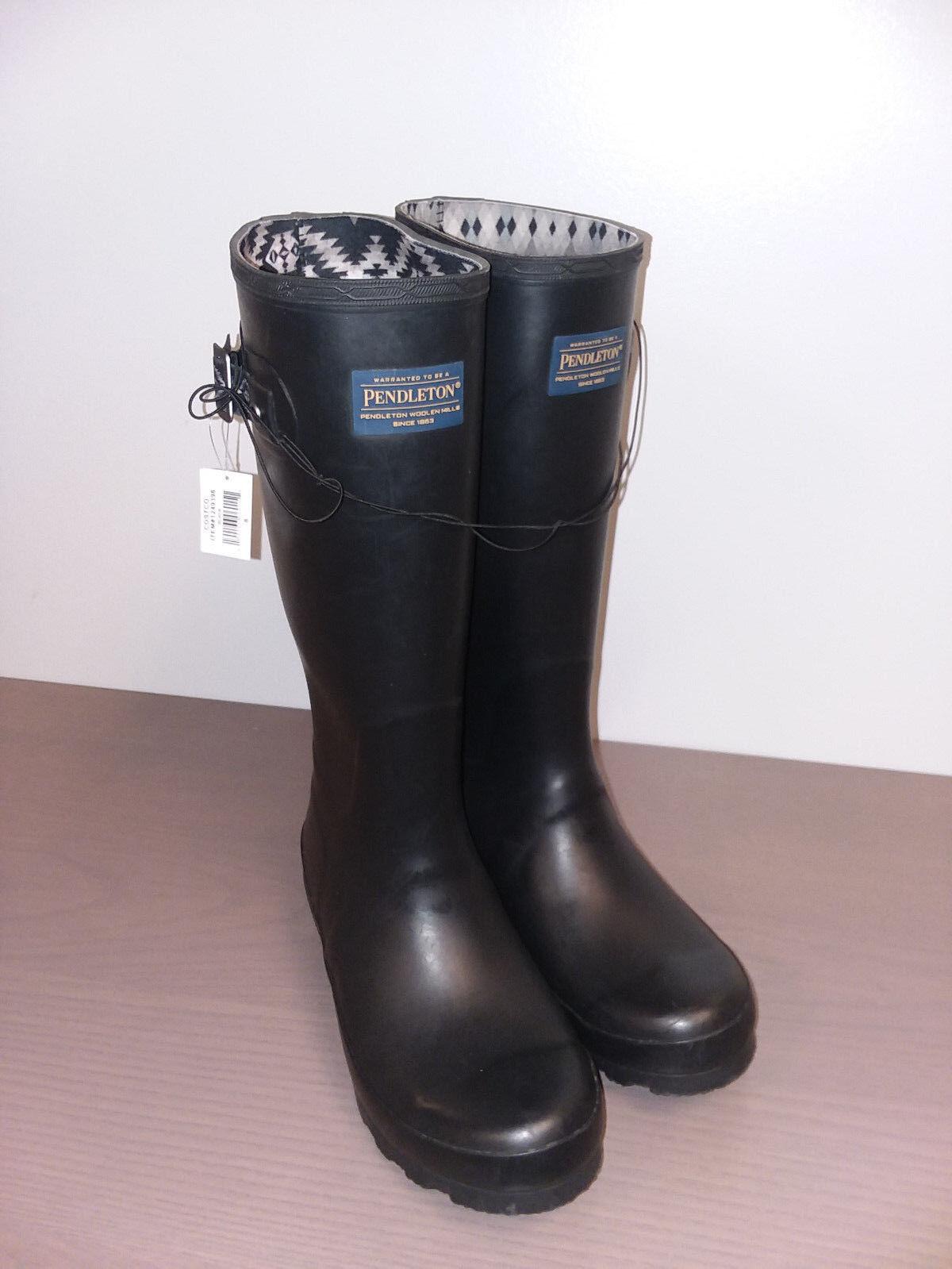NIB Pendleton Women's Classic Rubber Boot, Black, Sz 6