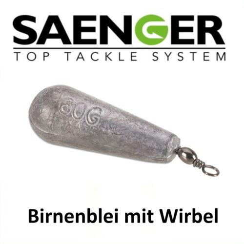 8 Stück 5gr. Grundblei Sänger Specitec BIRNENBLEI MIT WIRBEL