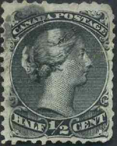 Canada-21-used-F-1868-Queen-Victoria-1-2c-black-Large-Queen-cancel-CV-40-00