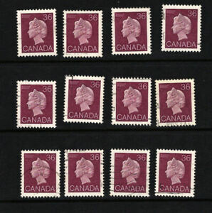 Wholesale-Lot-of-12-CANADA-Scarce-Used-Elizabeth-Definitive-Stamp-926A-L3714