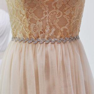 Hot vintage rhinestone sash belt bridal gown crystal for Vintage wedding dress belts