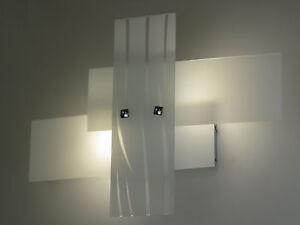 Lampada parete applique design moderno cromo illuminazione interni