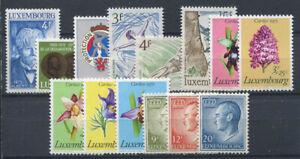 Luxembourg-1975-Mi-908-921-Neuf-100-Fleurs-Schuman-Protection-Civile