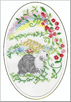 Belgian Shepherd Dog Rainbow Bridge Card Embroidered by Dogmania