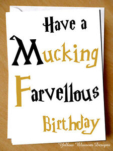 Funny Birthday Greetings Card For Him Her Son Daughter Mum Dad Best