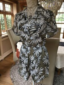 super popular sophisticated technologies new appearance Details about DESIGNER PRIMARK REVERE COLLAR KHAKI PALM LEAVES TROPICAL  PLAYSUIT 10 38 BNWT