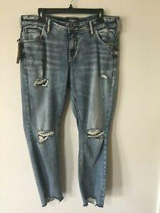 7841be0b Image is loading NWT-Women-039-s-Silver-Jeans-Sam-Boyfriend-