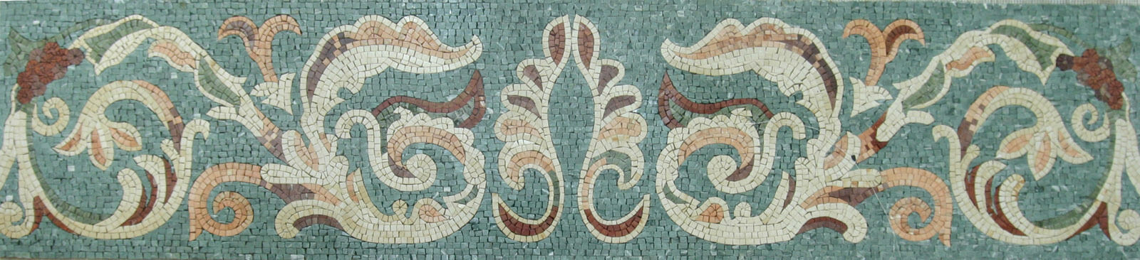 Rich Majestic Floral Art Border Skirting Floor Wall Marble Mosaic BD551