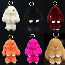 Cute Keychain Keyring Key Ring Chain Rabbit Handbag Car Pendant Accessories Gift