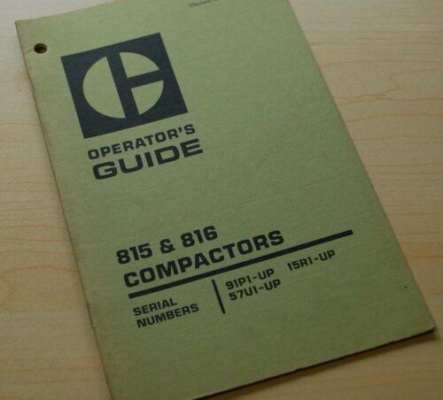 CAT Caterpillar 815 816 Compactor Operation Operator Guide Manual roller book