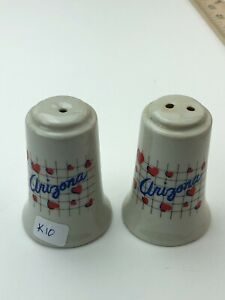 "Vintage Porcelain Salt And Pepper Shaker Arizona Petley Studios ROC 3"" Tall"