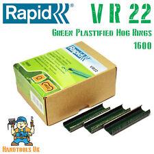 Rapid VR22 GREEN Plastified Hog Rings for FP20 / FP222 Fence Pliers 1600 Pack