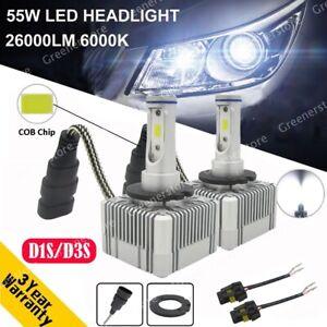 Pair-D1S-D3S-55W-26000LM-Car-CREE-LED-Conversion-Headlight-Lamps-KIT-6000K-White