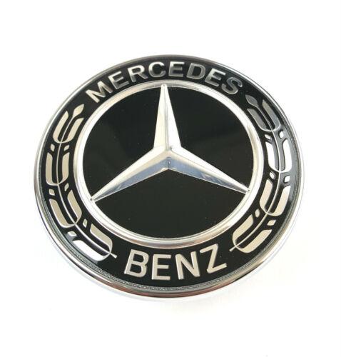 Mercedes Motorhaube Ersatz Stern Emblem W205 C W212 W213 W238 E-Klasse schwarz