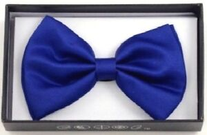 New-Tuxedo-PreTied-Royal-Blue-Bow-Tie-Satin-Adjustable-Band-US-SELLER