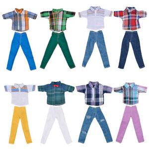 """*Handgemachte T-Shirt + Hosen Kleidung Outfit für 11 """"Dolls Freund Ken Doll Hot%"""