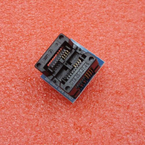 Blue SOP8 to DIP8 Wide-body Seat Wide 200mil Programmer Adapter Socket