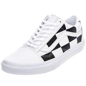 Détails sur Vans Ua Alte Skool - Blanc / Black - Chaussures Basses Homme  Noir/Blanc Blanc
