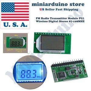 FM-Radio-Transmitter-Module-Wireless-Microphone-Stereo-PLL-LCD-Digital-87-108MHZ