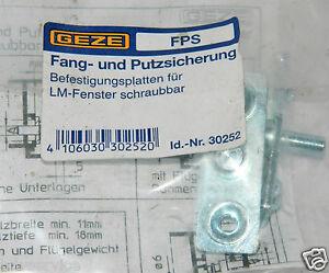 Geze-FPS-Fang-und-Putzsicherung-Befestigungsplatten-f-LM-Fenster-Id-Nr-30252