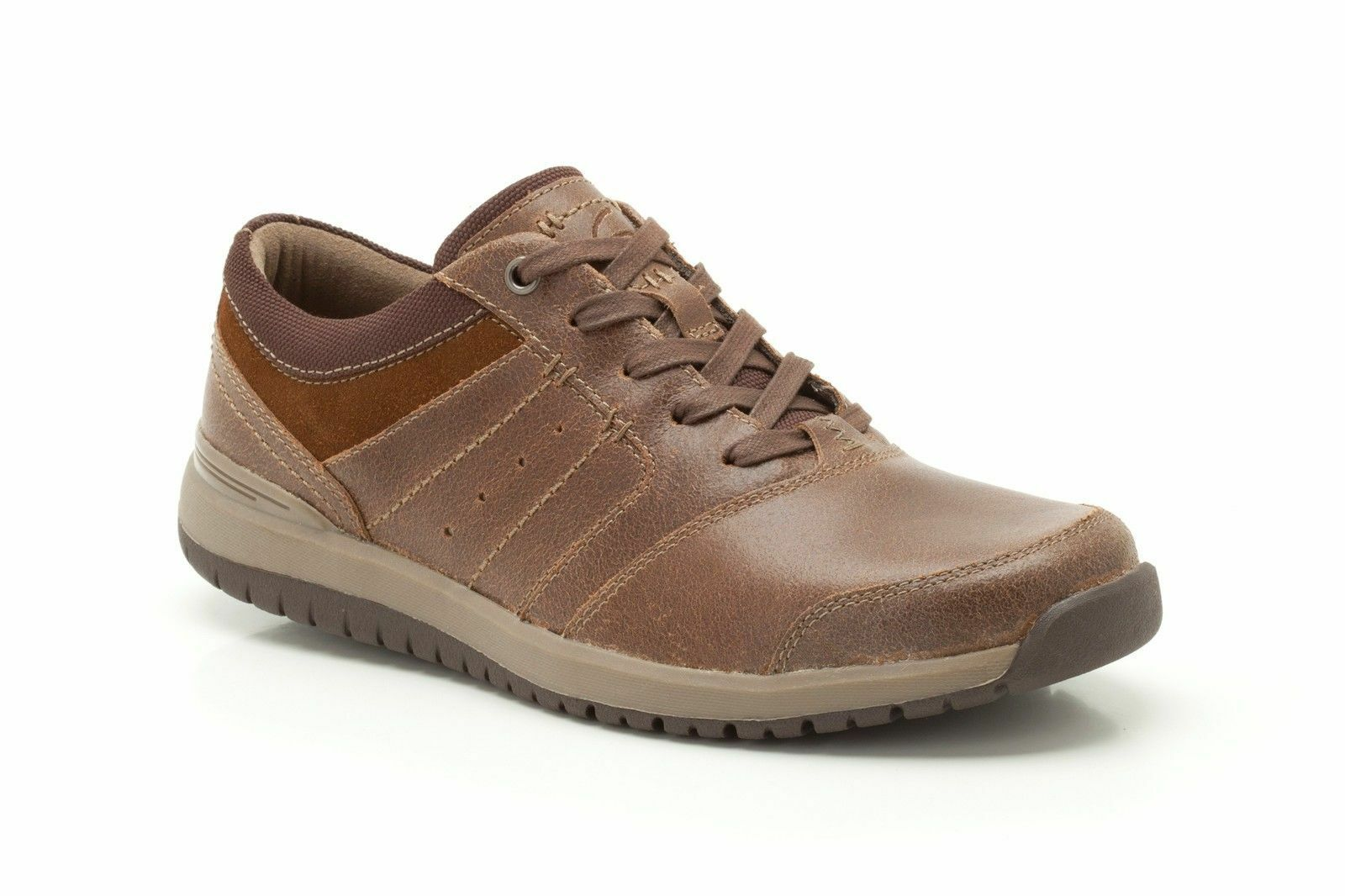 SALE Clarks 'Ryley Street' Men's Tan Leather Lace Up Casual shoes G Fit