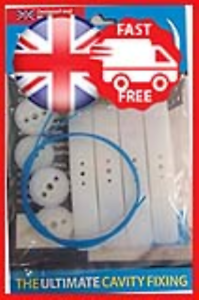 GeeFix-Plasterboard-Cavity-Wall-Fixings-Hollow-Wall-Anchors-Heavy-Duty-Pack-of-4