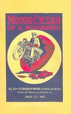 Libro De Motocicleta Vintage Motor Cycles en pocas palabras 1923 Scott Triumph Ariel JAP