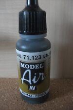 AIRBRUSH PAINT  - AV Vallejo Model Air  17ml Bottle -  USAF Dark Grey VAL123