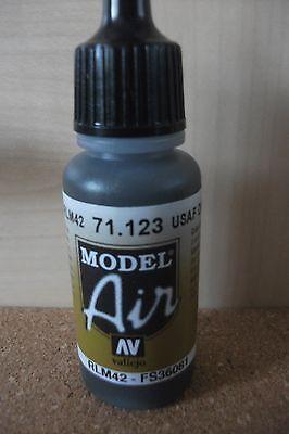 Av Vallejo Model 17ml Bouteille Usaf Gris Foncé Val123 Peinture Brosse à Air
