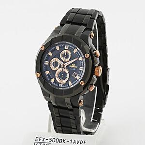 dd0b324c4598 La imagen se está cargando Casio-Edifice-Gold-Label-Reloj -Cronografo-efx-500bk-