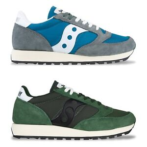 online store 1fed7 8090b Details about Saucony Originals - Saucony Jazz Original Vintage Trainers -  Castle Rock, Green