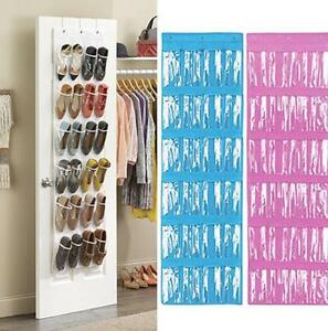 Image Is Loading Clear Collection 24 Pocket Over The Door Shoe