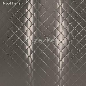 8 Pack 22ga Brushed Quilted Diamond Stainless Steel Sheets 4 X