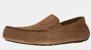NEW-UGG-Uggs-UPSHAW-Slippers-Loafers-Moccasins-Chestnut-Brown-9-UK-8-EU-42