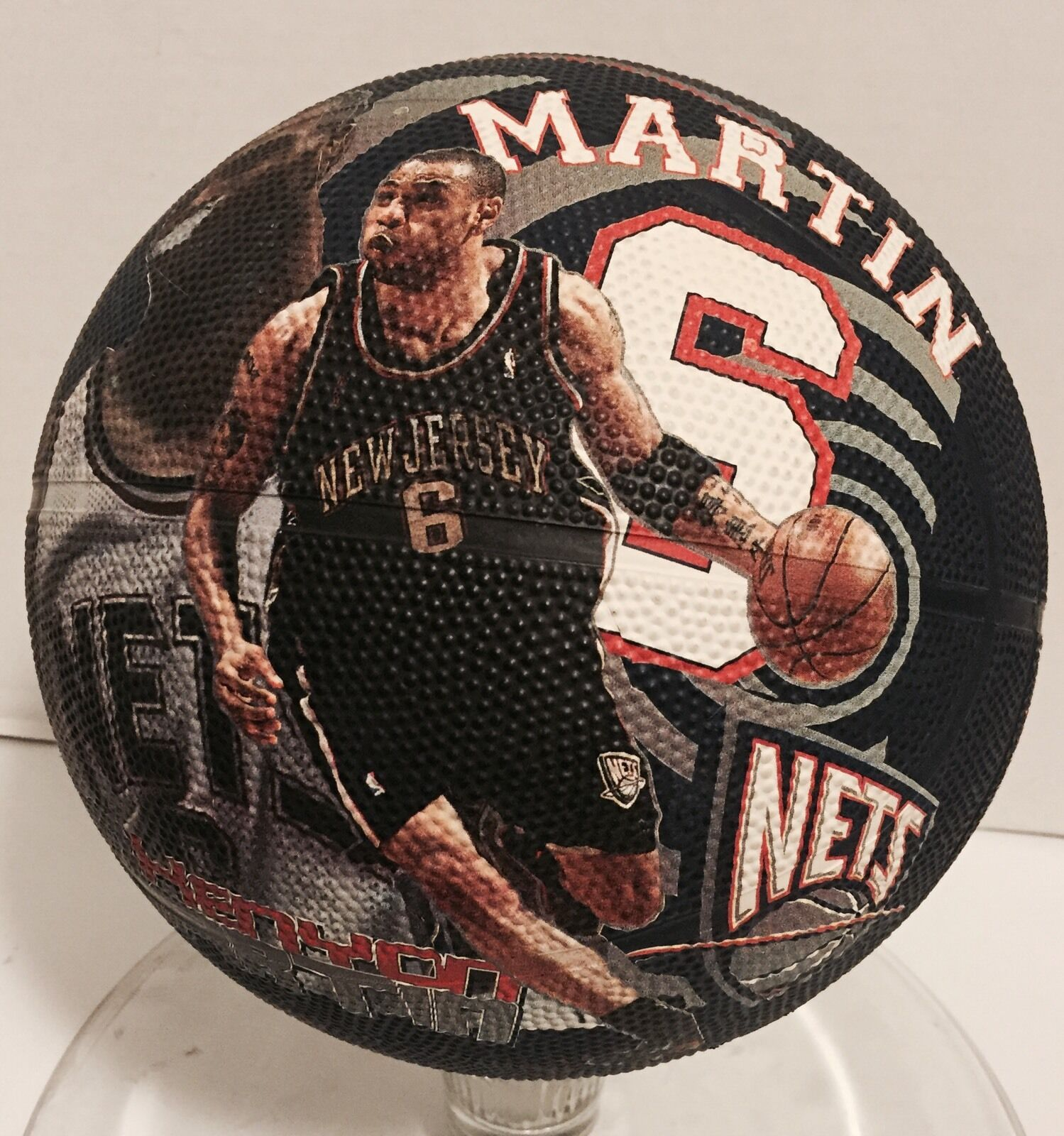 New Jersey Nets Kenyon Martin Fotoball Basketball Collectible