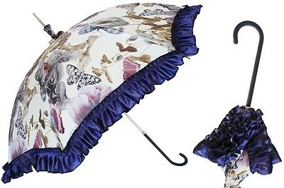 PASOTTI- BUTTERFLIES & FLOWERS ALL HAND MADE UMBRELLA IMPORTED FROM ITALY-NWT