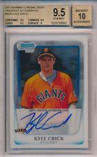 2011 1st Bowman Chrome Draft Prospect Autograph Kyle Crick RC BGS 9.5 10 Auto