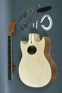 Responsable Faire Un Bon Jeu Complet Taille 6 String Double En Coupe Acoustic Guitar À Faire Soi-même Kit-afficher Le Titre D'origine