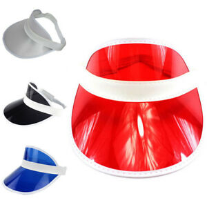 Fashion PVC Shade Cap Empty Top Chapeau Sunscreen Hat Beach Hats Sun ... 2791370ac830