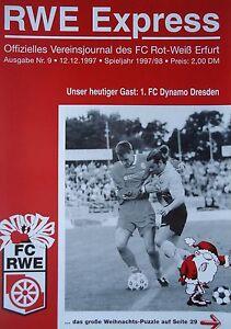 Programm 1997//98 FC Sachsen Leipzig RW Erfurt