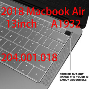 2Pcs-Silicone-Keyboard-Cover-Skin-Protector-for-MacBook-Air-13-034-A1932-2018-NEW