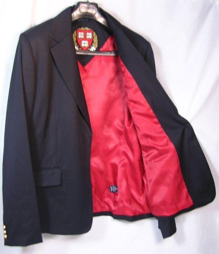 Harvard University Women's Team 2 Button Blazer Licensed Logo Sportcoat