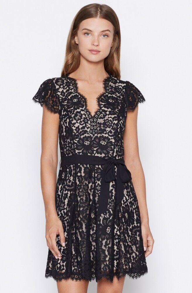 nyA AUTH Joie  348 Sloane Lace Dress, Kaviar, SZ 00, 0, Final Sale