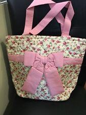 New NaRaYa Lovely Medium Size Pink Floral Cotton Handmade Shoulder Tote Bag